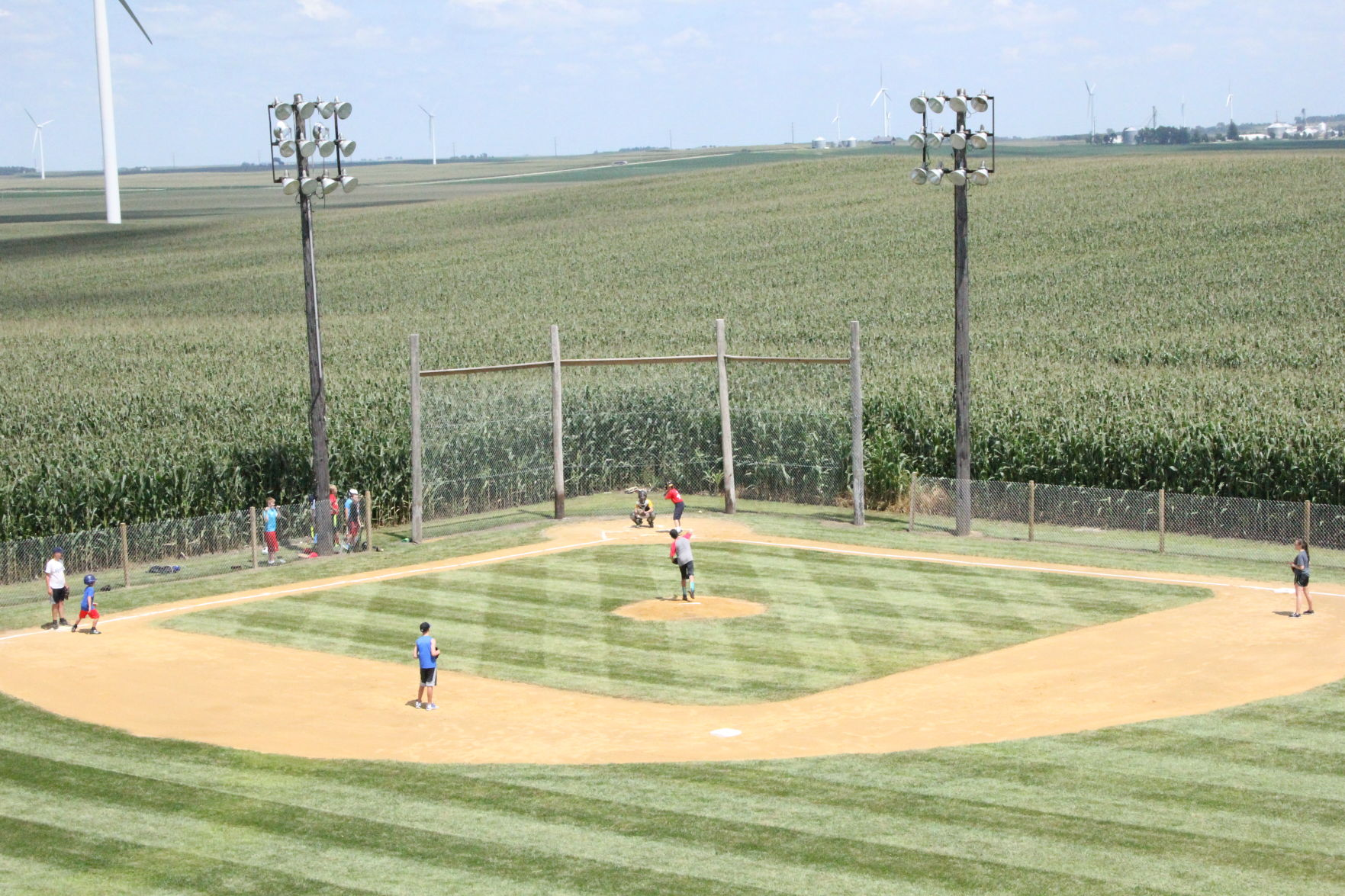 Backyard Baseball Fields rural iowa resident builds his own field of dreams at home | just in