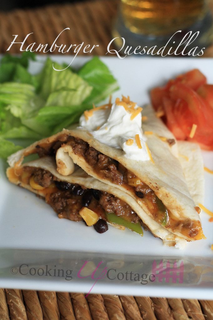 Hamburger Quesadillas