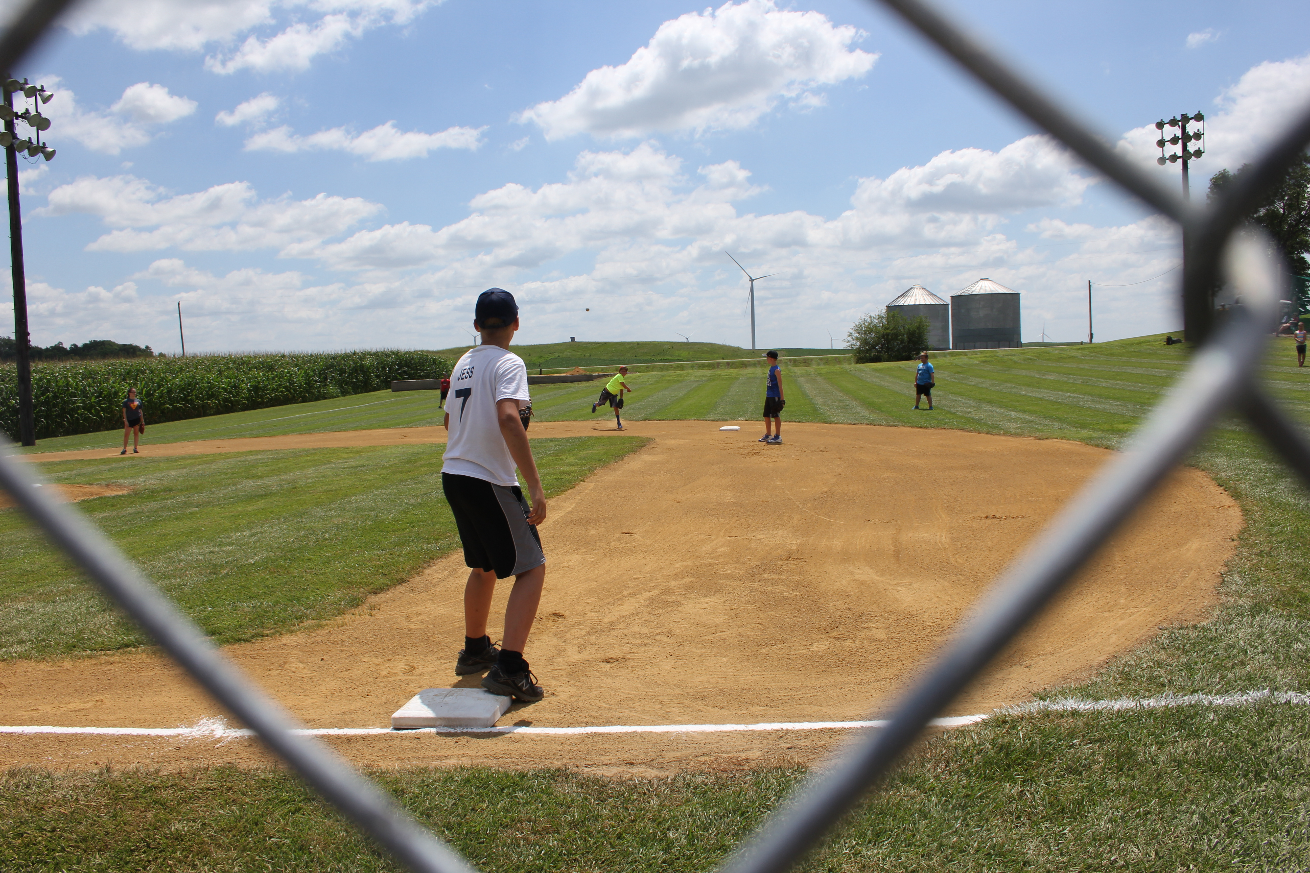 rural iowa resident builds his own field of dreams at home just