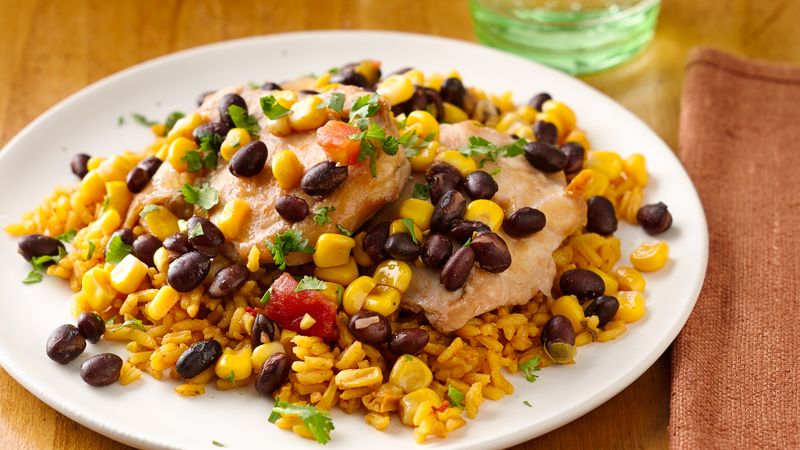 Slow Cooker Black Bean and Corn Salsa Chicken